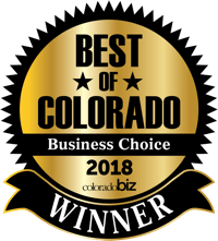 Best of Colorado <br>Business Choice <br>award winner