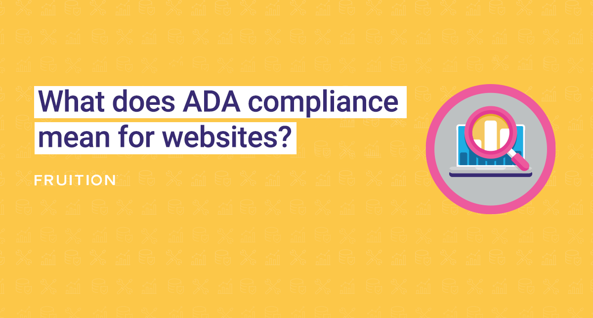 What does ADA compliance mean for websites?