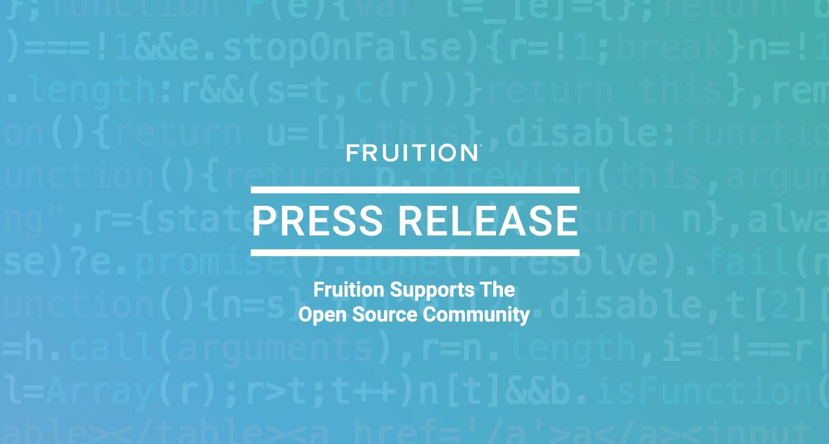 Fruition Supports The Open Source Community